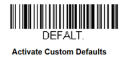 Honeywell Barcode - Activate Custom Defaults